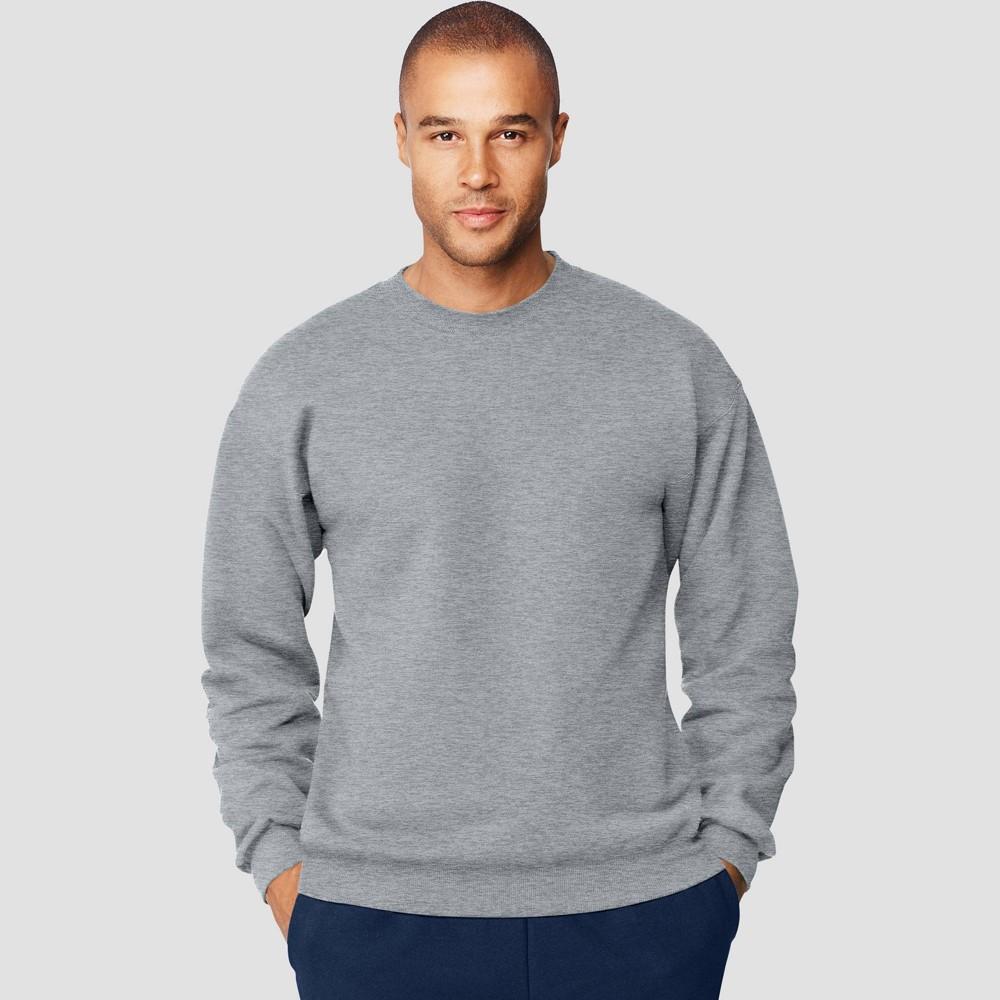 Hanes Men S Ultimate Cotton Sweatshirt Light Steel L