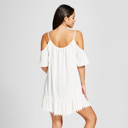 dbf28f01dd3 Cover 2 Cover Women s Cold Shoulder Cover Up Dress   Target