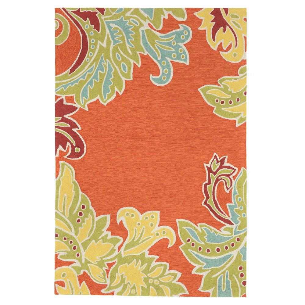 """Image of """"Orange Leaf Tufted Area Rug 8'3""""""""X11'6"""""""" - Liora Manne"""""""