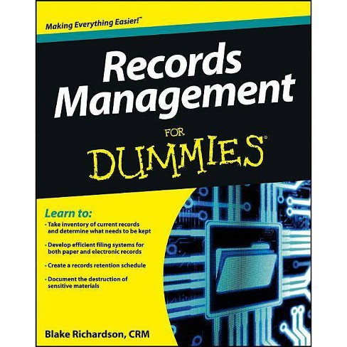 Records Management for Dummies - (For Dummies) (Paperback) - image 1 of 1