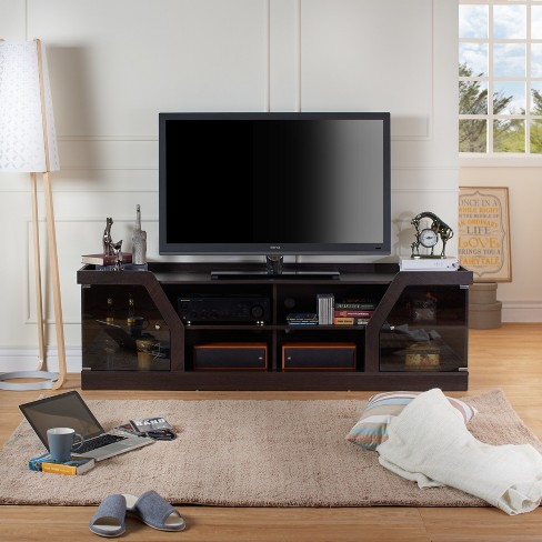 4 Shelf 70 Tv Stand Espresso Homes Inside Out Target
