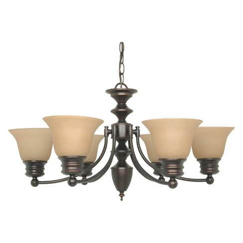 Aurora Lighting 6 Light Mahogany Chandelier Bronze - image 1 of 1