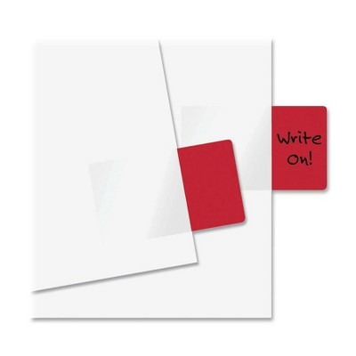 """Redi-Tag Standard Page Flag 1-11/16""""x1"""" 50 Flags/PK Red 76801"""
