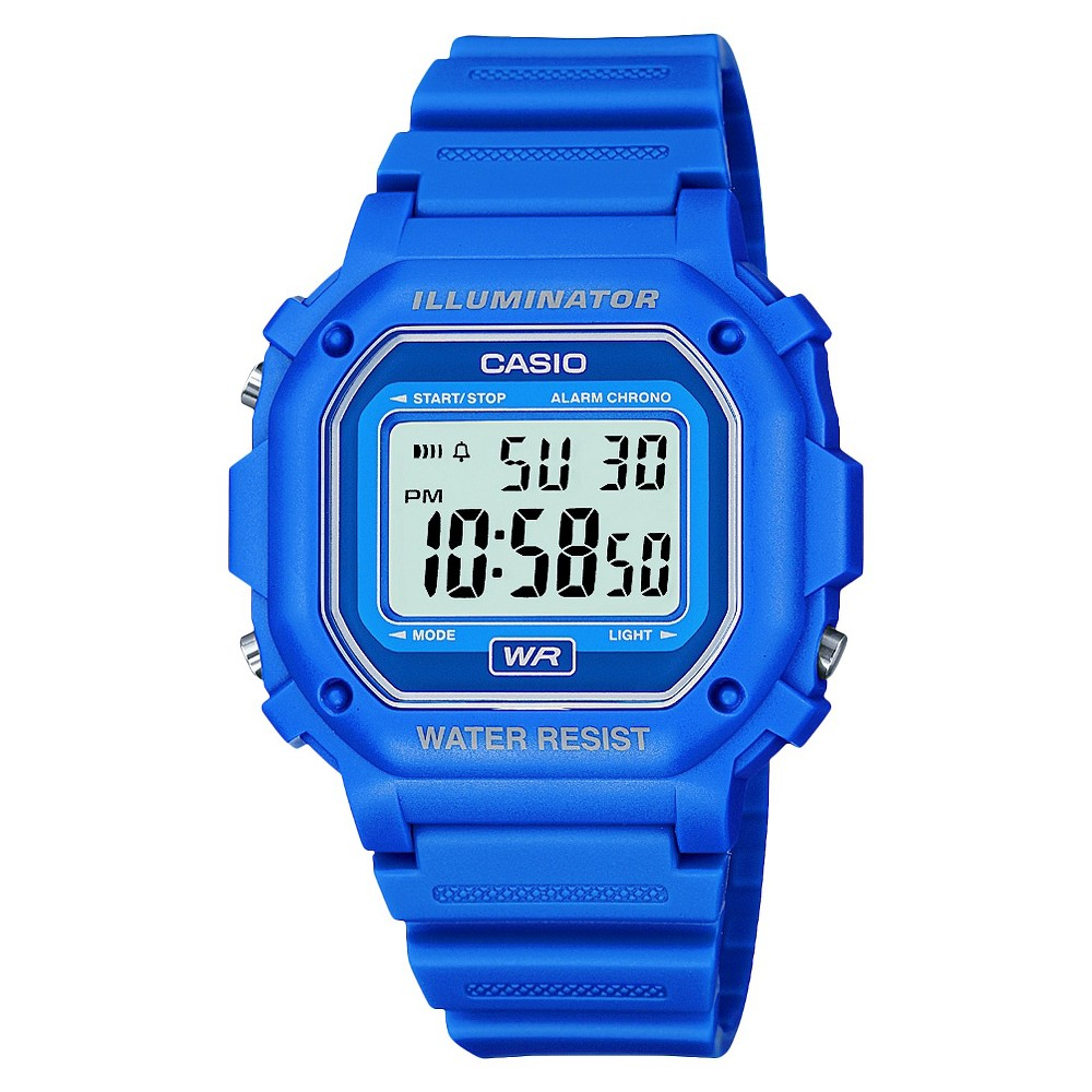 Image of Casio Digital Watch - Blue (F108WH-2ACF), Adult Unisex