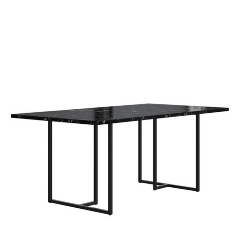Edith Rectangular Dining Table Faux Marble Black Cosmoliving By Cosmopolitan Target
