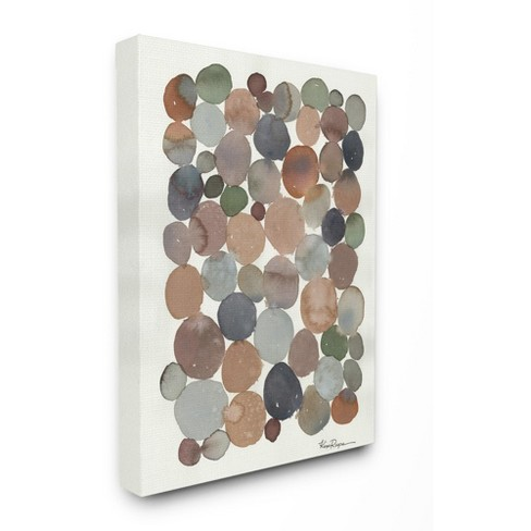 Stupell Industries Earth Tone Organic Circles Abstract Cobblestone Design Target