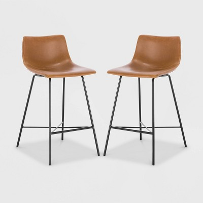 """Set Of 2 24"""" Phillip Counter Height Barstools - Poly & Bark : Target"""