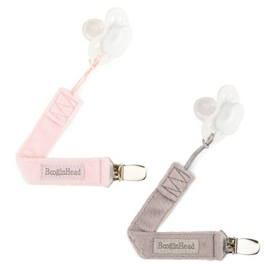 BooginHead 2pk PaciGrip Lux Pacifier Holder - Pink