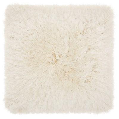 Yarn Shimmer Shag Oversize Square Throw Pillow Cream - Mina Victory