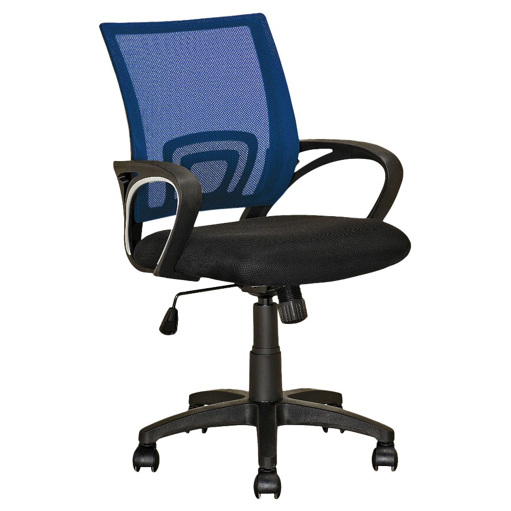Workspace Mesh Back Office Chair Navy Blue - CorLiving