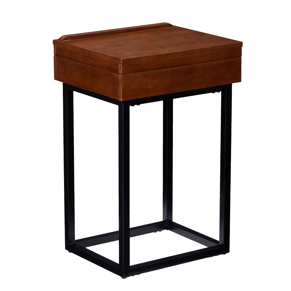 Image of Cayson Storage Lift Top Side Table Dark Tobacco - Holly & Martin, Brown