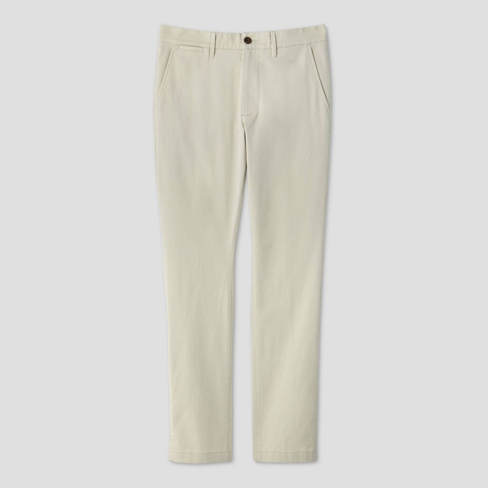 Men 39 S Skinny Fit Chino Pants Goodfellow 38 Co 8482 Ivory 38x32