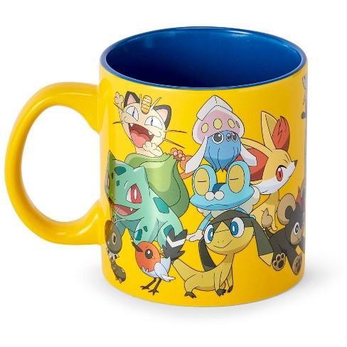 Just Funky Pokémon XY Series Large Pokémon Group Foil Print Coffee Mug   Holds 20 Ounces - image 1 of 4