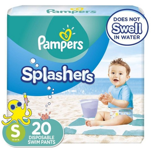 Pampers Splashers Disposable Swim Pants - Size S (20ct) - image 1 of 4