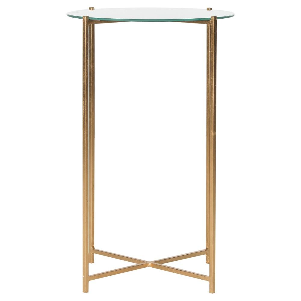 Flamel End Table Gold/Mirror - Safavieh
