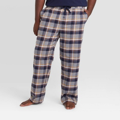 Men's Big & Tall Plaid Flannel Pajama Pants - Goodfellow & Co™ Heather Gray