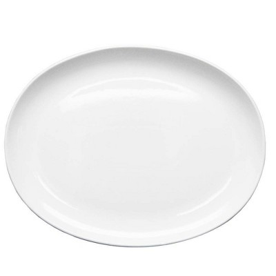 "18"" x 14"" Porcelain Oval Serving Platter White - Threshold™"