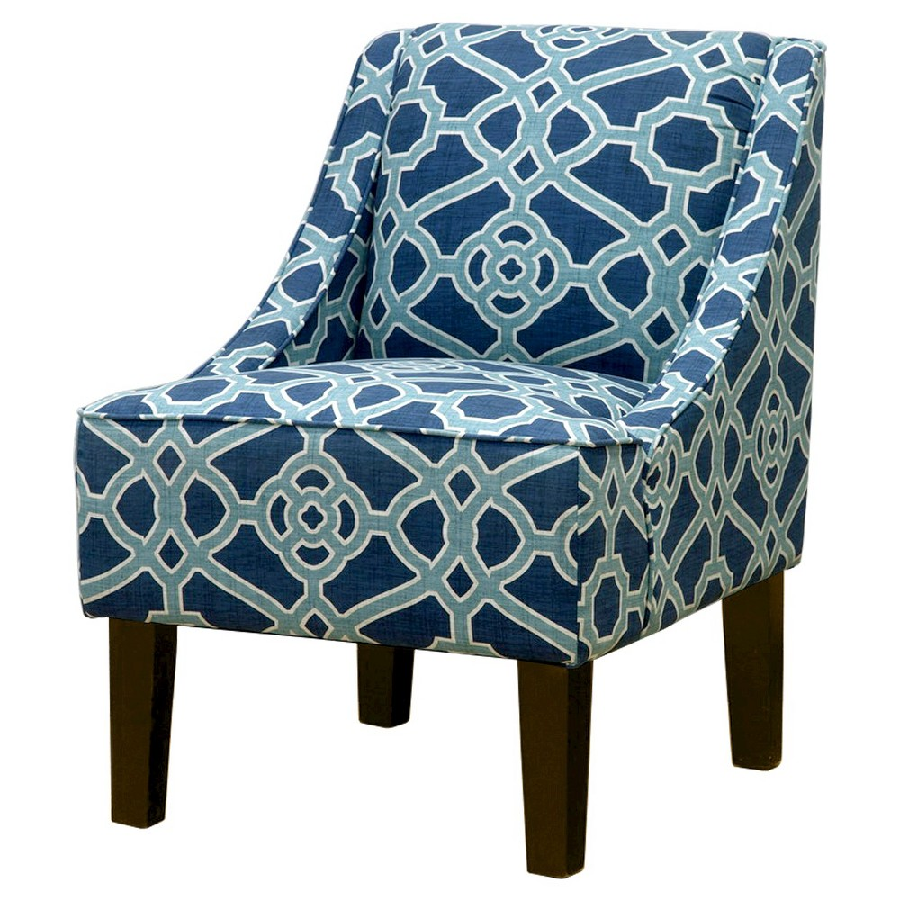 Hudson Swoop Chair - Prints - Threshold, Pavillion Fretwork Tropical Blue