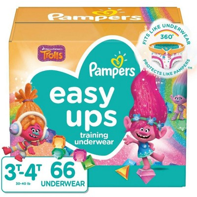 Pampers Easy Ups Girls' Trolls Training Pants - (Select Size and Count)