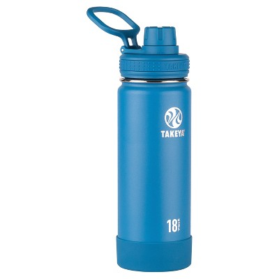 Takeya Actives 18oz Insulated Stainless Steel Water Bottle with Spout Lid - Blue
