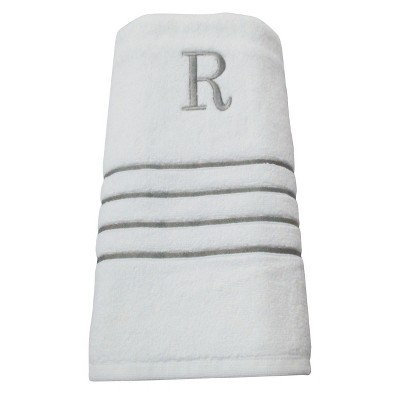 Monogram Bath Towel R - White/Skyline Gray - Fieldcrest®