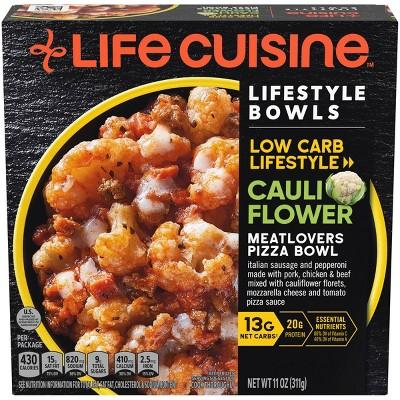 Life Cuisine Frozen Meatlovers Cauliflower Pizza Bowl - 11oz