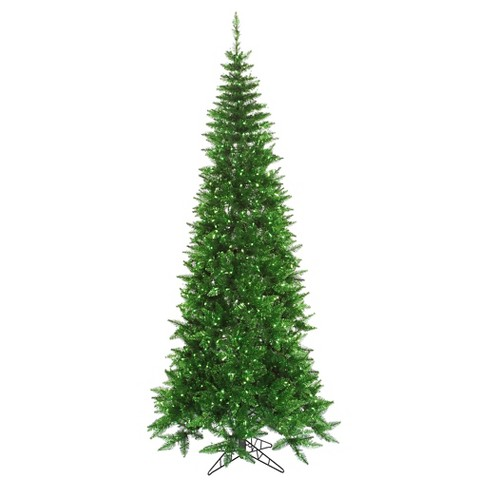 7.5ft Pre-Lit Artificial Christmas Tree Full Copper Tinsel Fir - Clear Lights - image 1 of 1
