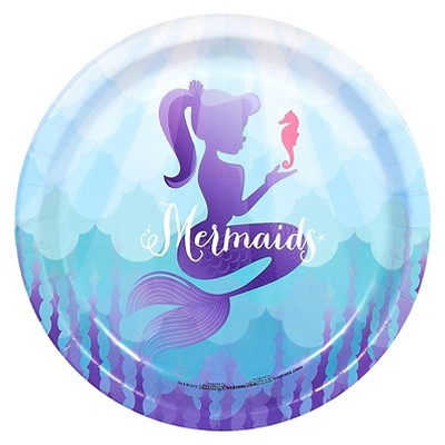 8ct Mermaids Under the Sea Dinner Plate