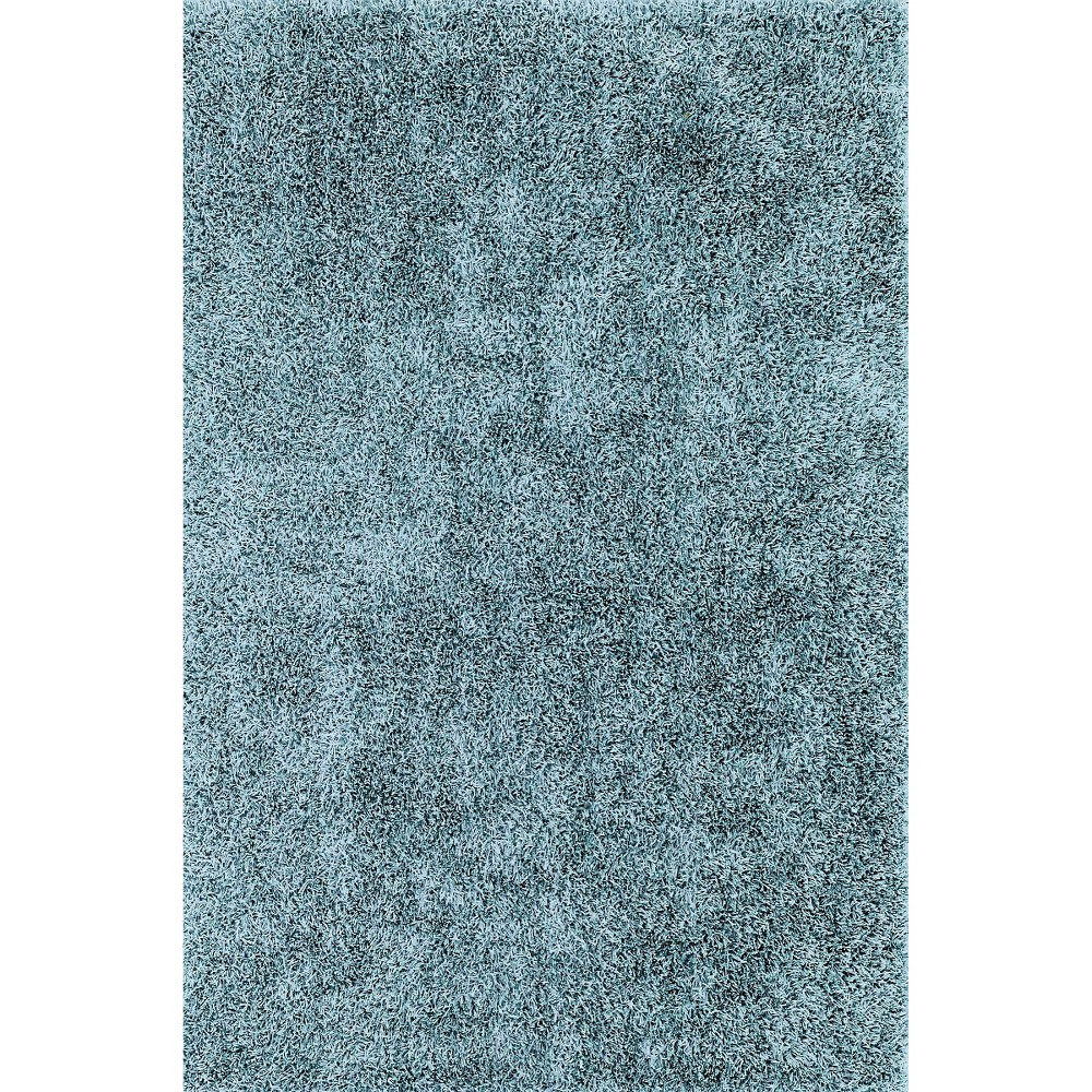 5'x7'6 Lustrous Shoestring Shag Area Rug Sky (Blue) - Addison Rugs