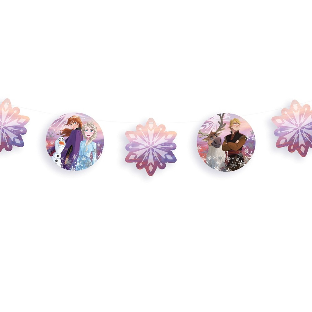 Image of Frozen 2 Snowflake Garland Banner