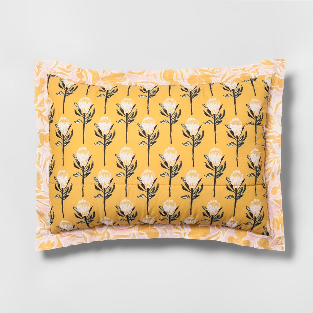 Yellow Desert Rose Sham (King) - Opalhouse
