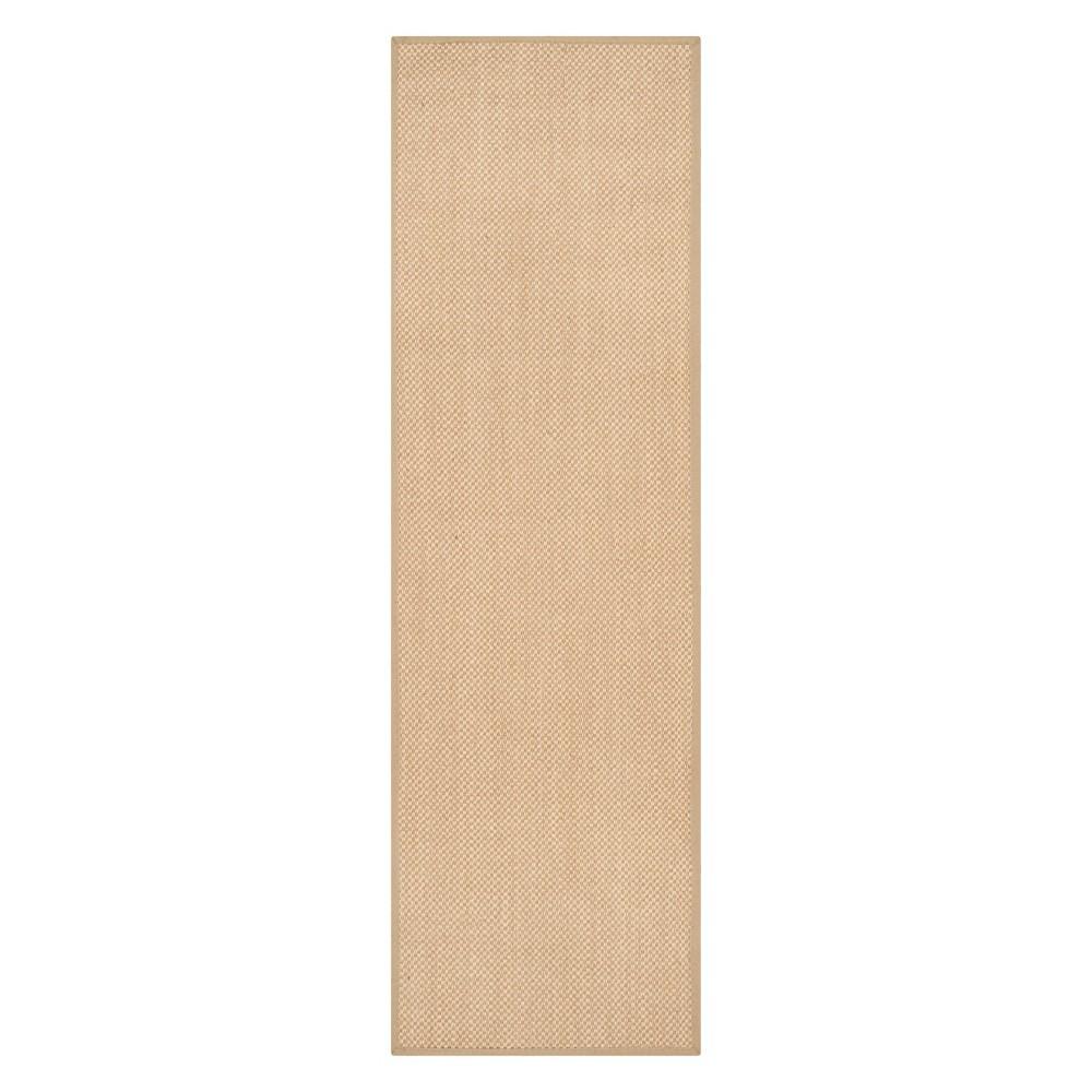 2'6X22' Solid Loomed Runner Maize/Linen (Yellow/Linen) - Safavieh