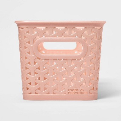 12 Medium Y Weave Rectangle Decorative Bin Pink - Room Essentials™