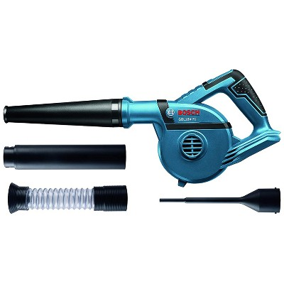 Bosch GBL18V-71N Bare Tool 18V 2 Speed 71 CFM 167 MPH Cordless Battery-Powered Blower with 4 Nozzles