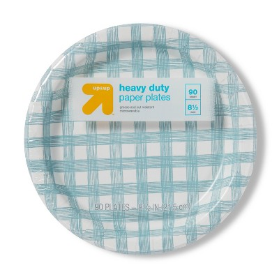 "Line Plaid Paper Plate 8.5"" - 90ct - up & up™"