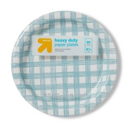 """Line Plaid Paper Plate 8.5"""" - 80ct - Up&Up™"""