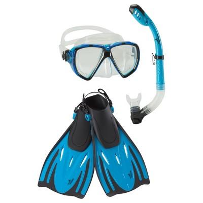 Speedo Adult Snorkel Set Blue Large/Extra Large - 2pc