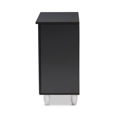 Gisela 2 - Door Shoe Storage Cabinet Dark Gray - Baxton Studio : Target