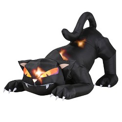 "48"" x 60"" Halloween Black Cat With Turning Head Inflatable"