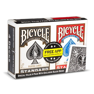 Bicycle Play Card Game 4pk