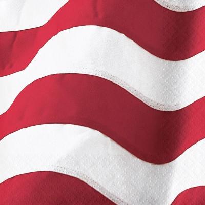 48ct Patriotic Flag Beverage Napkins