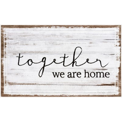 "1'6""x2'6"" Fashionables Deluxe Together We Are Home Doormat White/Tan - Apache Mills"