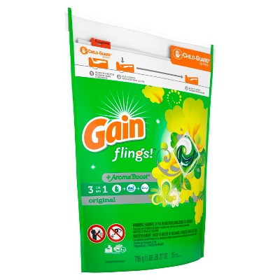 Gain Flings Original Laundry Detergent Pacs 35 ct
