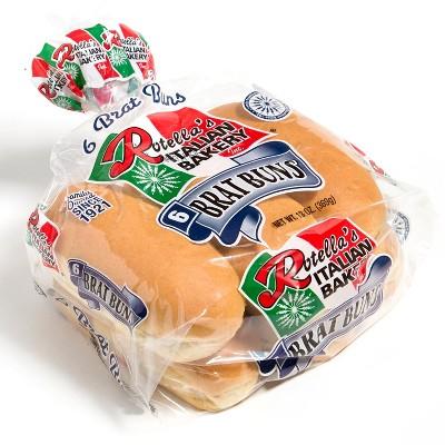 Rotella's Italian Bakery Brat Buns - 13oz/6ct