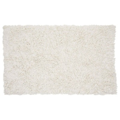Juvale White Cotton Bath Mat, Plush Non-Slip Bathroom Rug for Showers (32 x 20 Inches)
