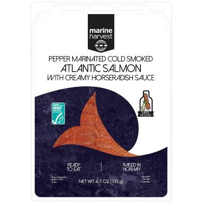 Marine Harvest Norwegian Pepper Marinated Cold Smoked Salmon - 4.7oz
