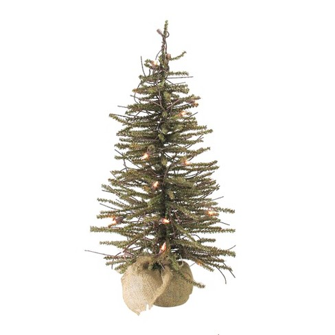 Northlight 4' Prelit Artificial Christmas Tree Warsaw Twig in Burlap Base - Clear Lights - image 1 of 1