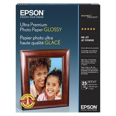 "Epson Ultra Premium 25-ct. Glossy Photo Paper 8.5""x11"""