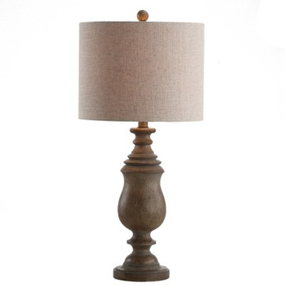 "28.5"" Abeline Resin Table Lamp (Includes LED Light Bulb) Brown - JONATHAN Y"
