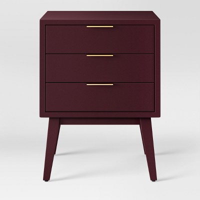 Hafley Three Drawer End Table Berry - Project 62™